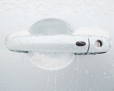 Zugefrorener Autogriff